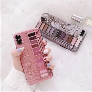 Gray IPHONE XS MAX SOFT MATERIAL MAKEUP PHONE CASE